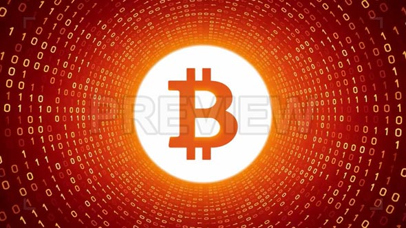 Bitcoin In Orange Binary Tunnel