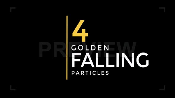 Golden Falling Particles