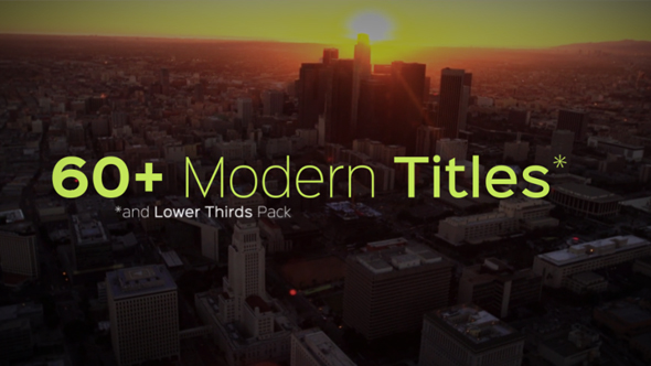 Modern Titles and Lower Thirds