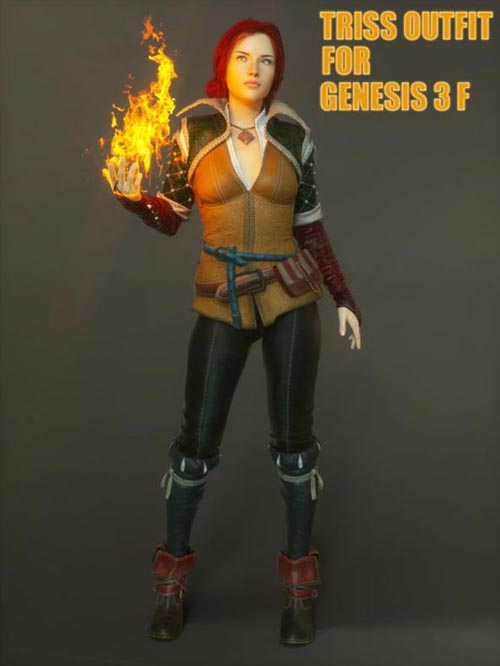 Triss Outfit For G3F