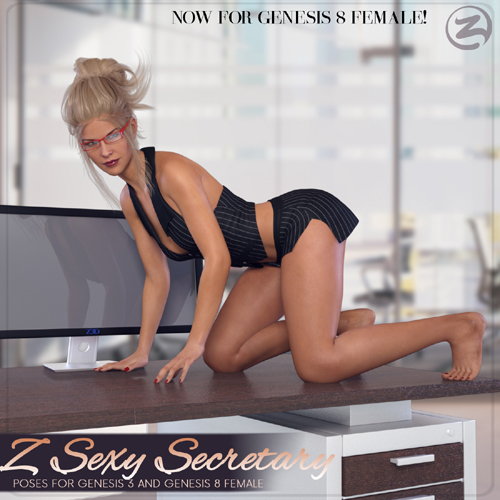 Z Sexy Secretary - Poses for Genesis 3 and Genesis 8 Female(s)