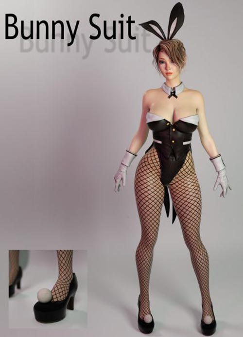 Bunny Suit for Genesis 3 Female