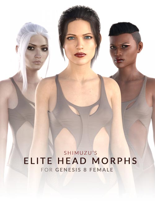 Shimuzu's Elite Head Morphs for Genesis 8 Female