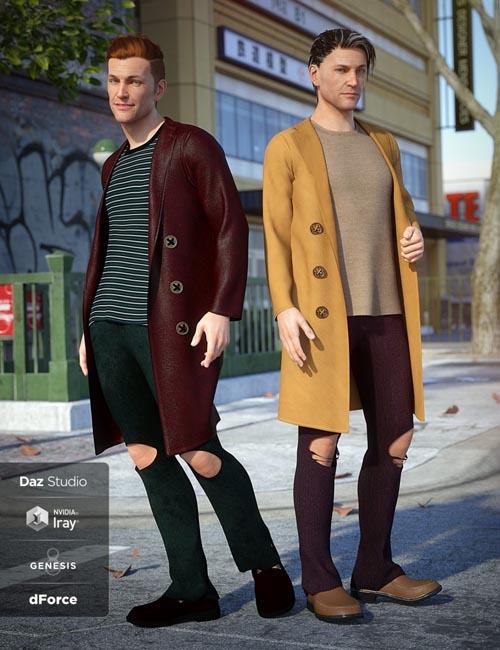 dForce Long Coat Outfit Textures