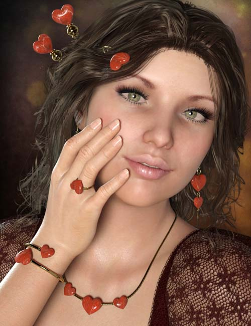 Little Heart Jewelry for Genesis 8 Female(s)