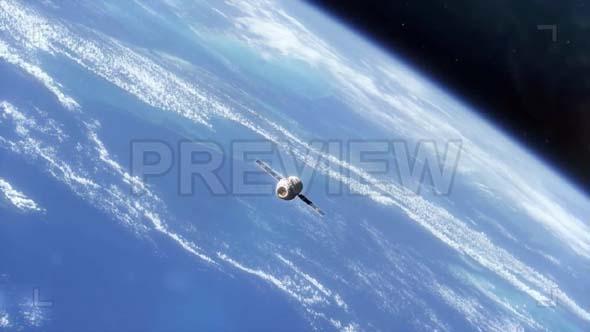Space Capsule In Orbit Pack