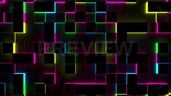 Glow Cubes Background