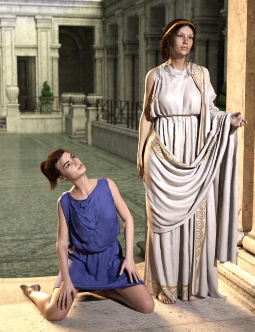 SY dForce Roman Clothing Pack Genesis 8 Female