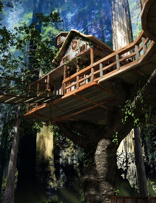 Forest TreeHouse Iray Worlds