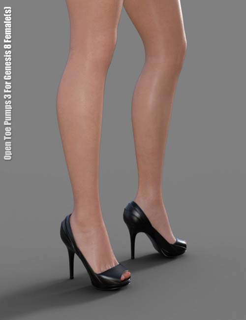 Open Toe Pumps 3 for Genesis 8 Female(s)