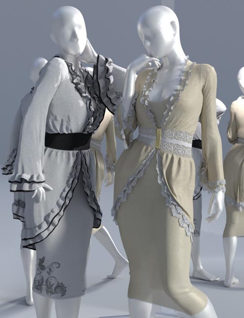 dForce Modern Romantique Outfit for Genesis 3 and 8 Female(s)