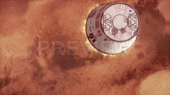 Mars Spaceship Landing