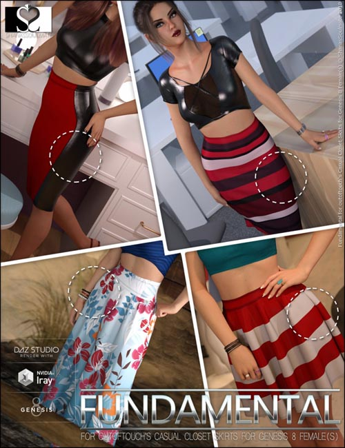Fundamental Textures for OOT Casual Closet Skirt Collection