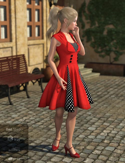 dForce Alicia Outfit for Genesis 8 Female(s)