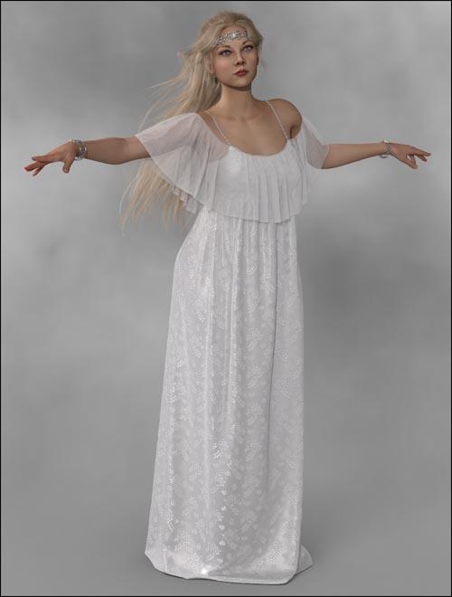 dForce - Long Gypsy Dress for G8F