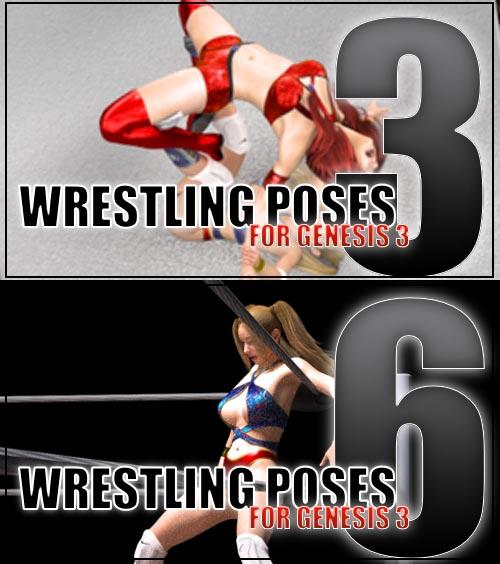 Genesis 3 Wrestling Pose Pack