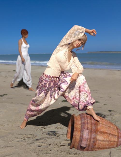 dForce Harem Pants Outfit for Genesis 8 Female(s)