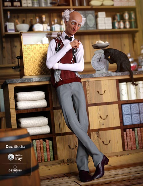 Sweater Vest Outfit for Genesis 8 Male(s)