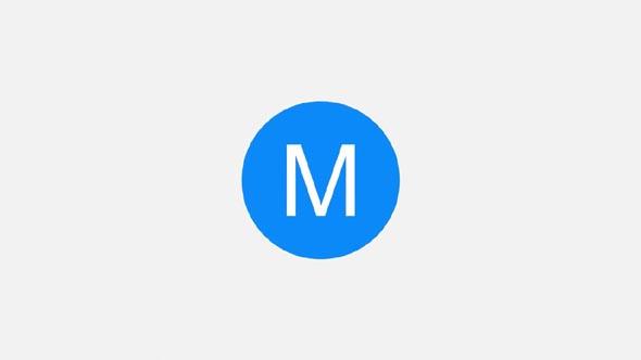 Elegant Flat Logo Intro