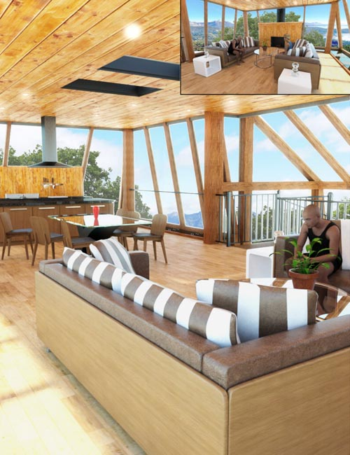Tree House Living and Dining Room