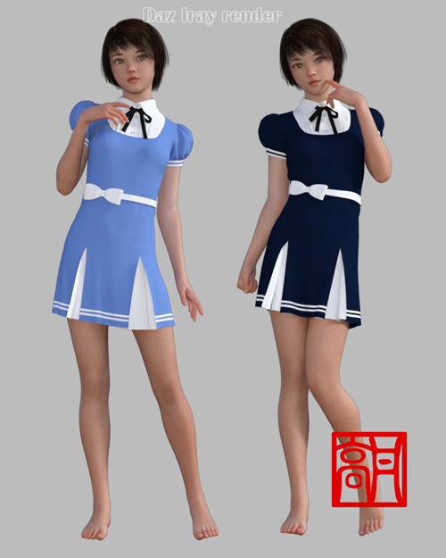 dForce GaoDan Cute Dress for Genesis 8 Female