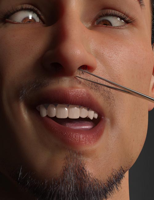 CC Hole Hair for Genesis 8 Male(s)