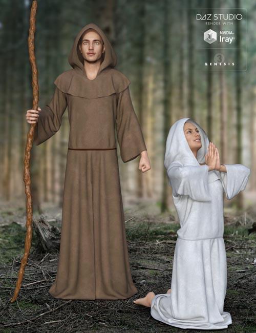dForce Midnight Monk for Genesis 3