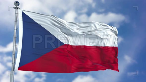 Czech Republic Flag Animation