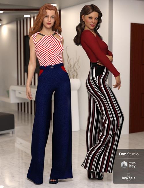 dForce Wide Leg Pants Outfit Textures