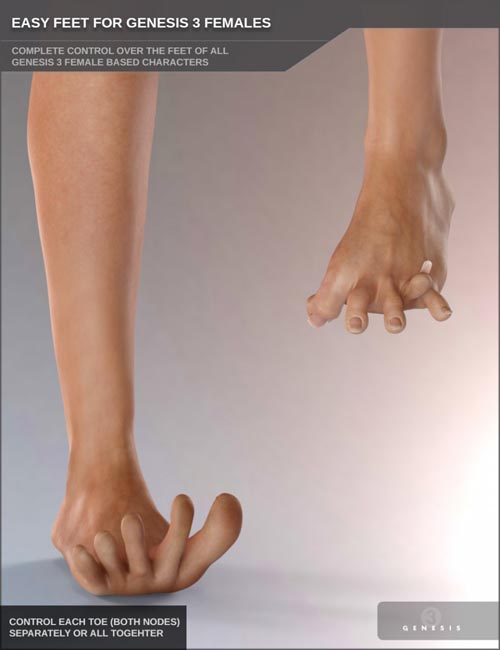 Easy Feet for Genesis 3 Female(s)