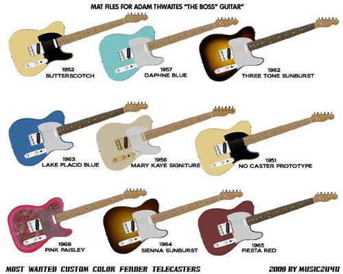 Guitar MATS for Adam Thwaites