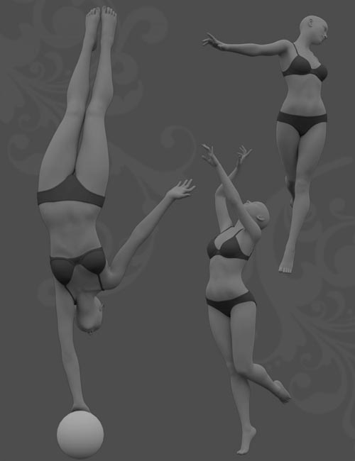 Balance Poses for Genesis 8 Female