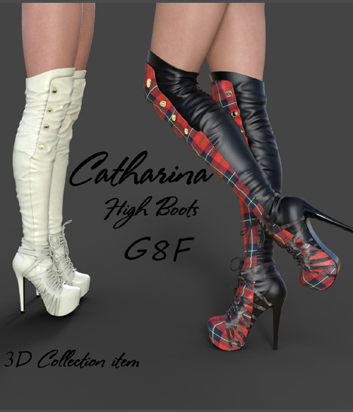 Catharina High Boots for Genesis 8 Females