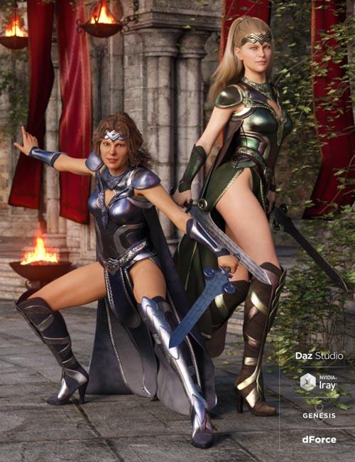 dForce Warrior Queen Outfit Textures
