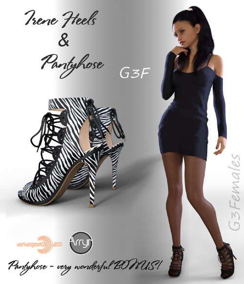 Irene Heels and Pantyhose G3F