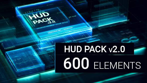 HUD Pack v2.0 - 600 elements -