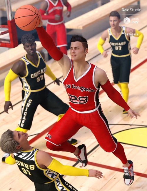 Basketball Court Outfit for Genesis 8 Male(s)