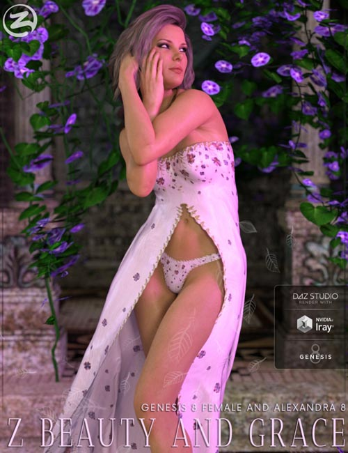 Z Beauty and Grace - Poses and Expressions for Genesis 8 Female and Alexandra 8