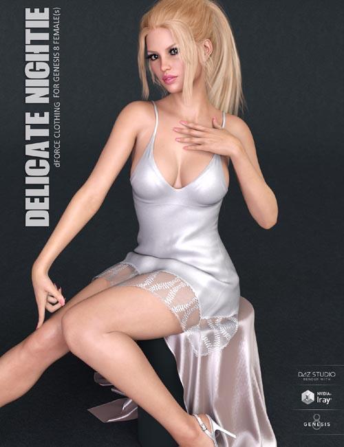dForce Delicate Nightie for Genesis 8 Females