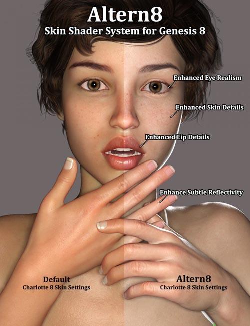 Altern8 - Skin Shader System for Genesis 8