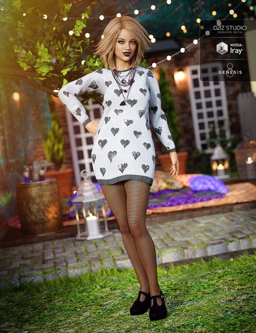 Slouchy Sweater Outfit for Genesis 8 Female(s)