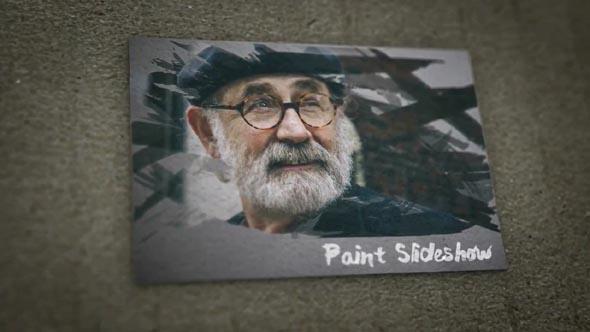 Paint Brush Paper Slideshow 4K