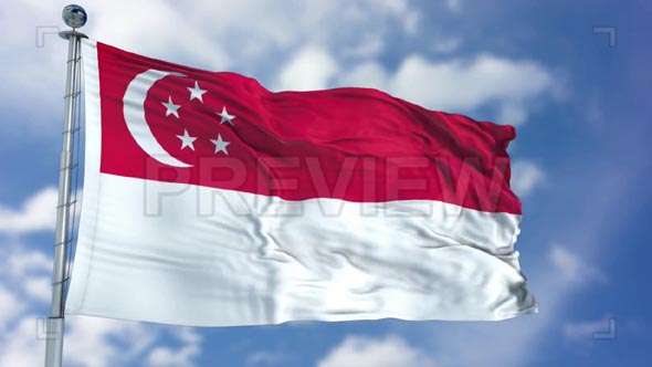 Singapore Flag Animation