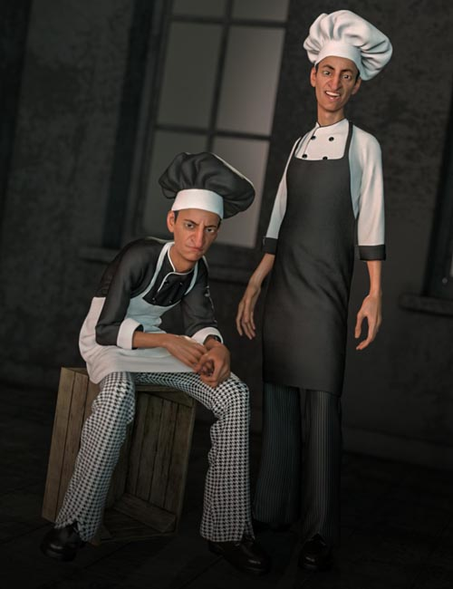 dForce Chef Outfit and Hair for Genesis 8 Male(s)