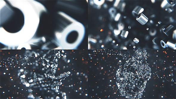 Metalic Particles Logo