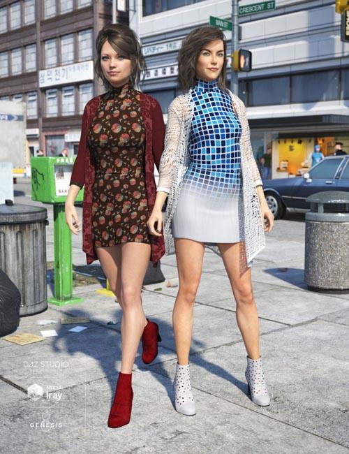 Cardigan Dress Outfit Textures