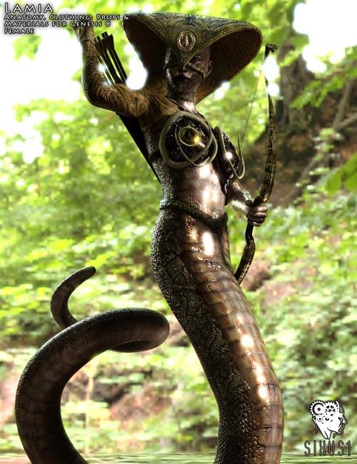Lamia for Genesis 8 Female