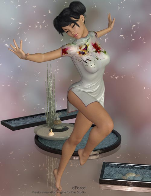 dForce Yumi Dress for Genesis 8 Female(s)