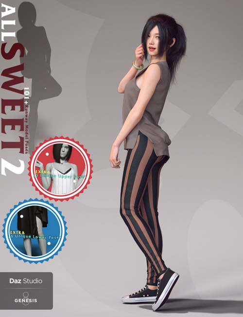 All Sweet Fashion Poses Series 2 for Genesis 8 Female