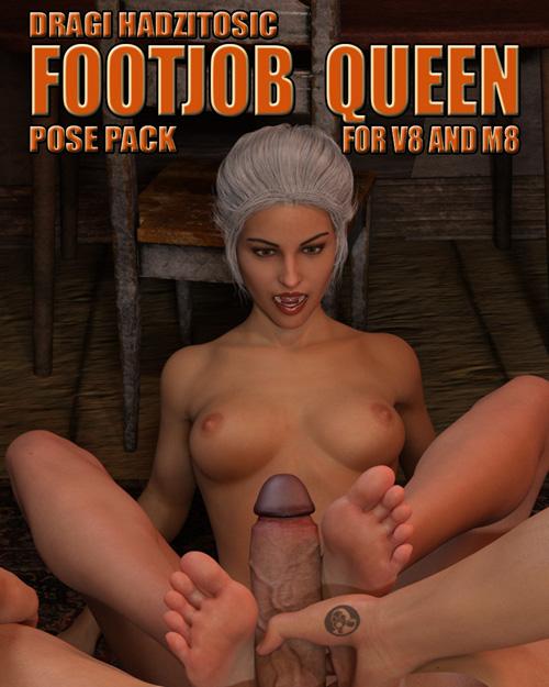 Footjob Queen